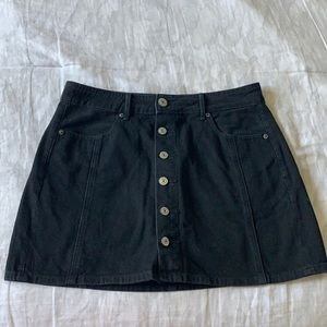 AE Black Jean Skirt